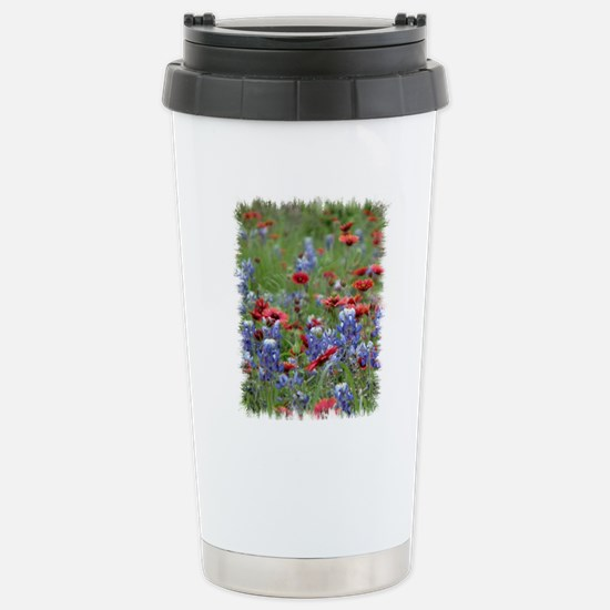 BLUEBONNETS AND FIREWHE Stainless Steel Travel Mug