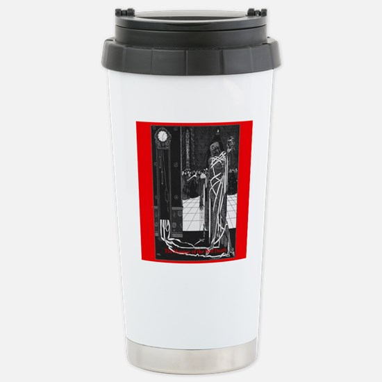 The Masque of the Red D Stainless Steel Travel Mug