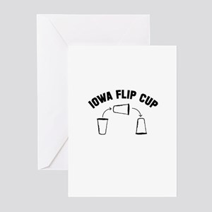 Iowa Flip Cup Greeting Cards (Pk of 10)