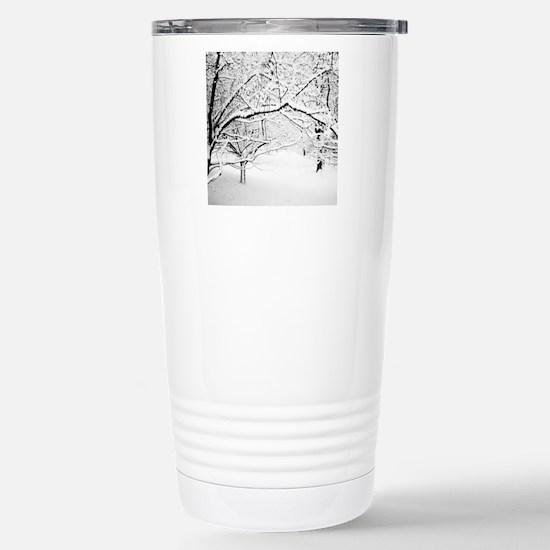 Winter Trees Keepsake B Stainless Steel Travel Mug