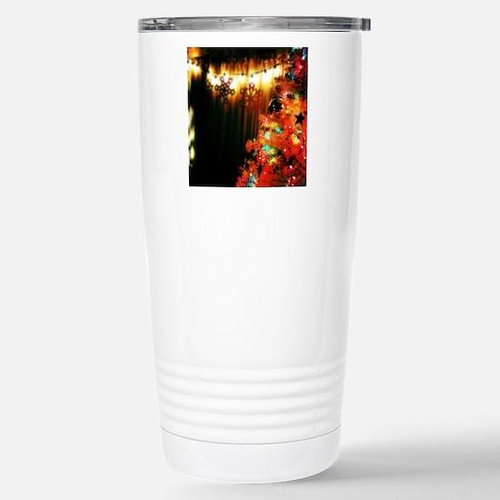 Colorful Christmas Tree Stainless Steel Travel Mug
