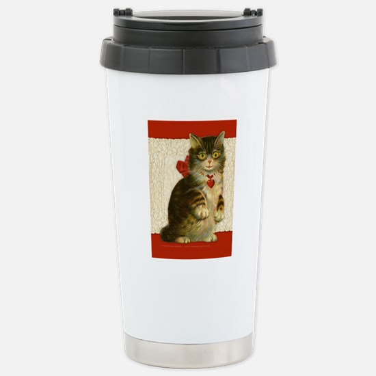 5 x 7 card_cat Stainless Steel Travel Mug