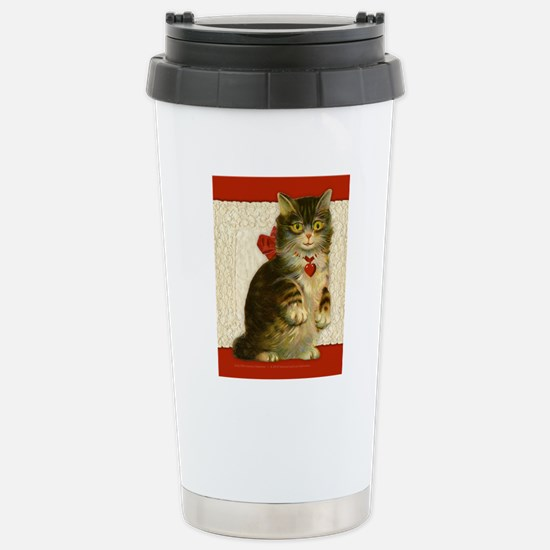 note card_cat2 Stainless Steel Travel Mug