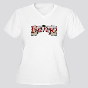 Banjo Women's Plus Size V-Neck T-Shirt