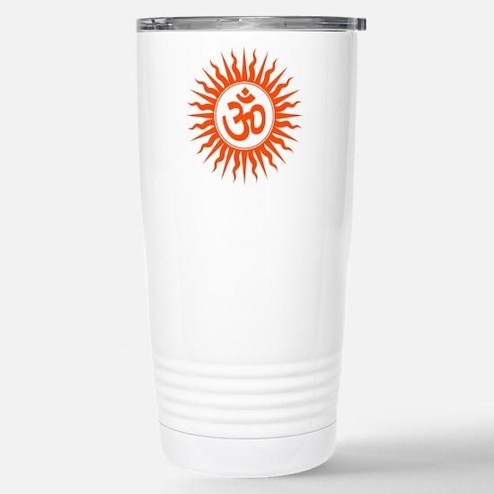 Spiritual Om Design Stainless Steel Travel Mug