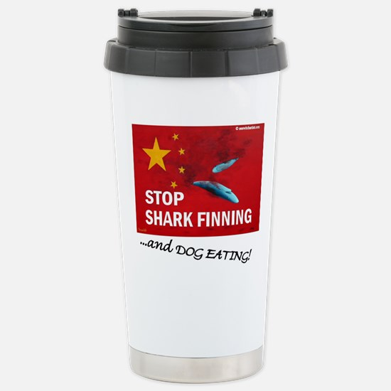 shark-finning-dogs Stainless Steel Travel Mug
