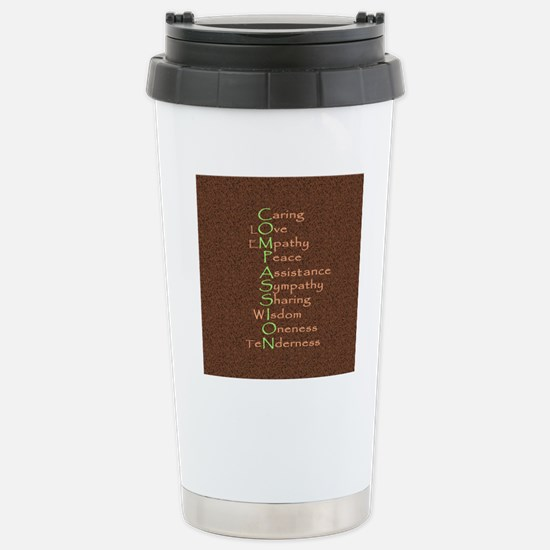 2-compassion tile Stainless Steel Travel Mug