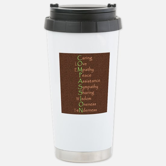 2-COMPASSION -pillow Stainless Steel Travel Mug