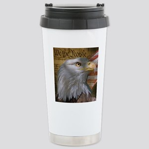 We_the_People_8inSq Stainless Steel Travel Mug