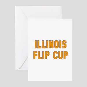 Illinois Flip Cup Greeting Cards (Pk of 10)