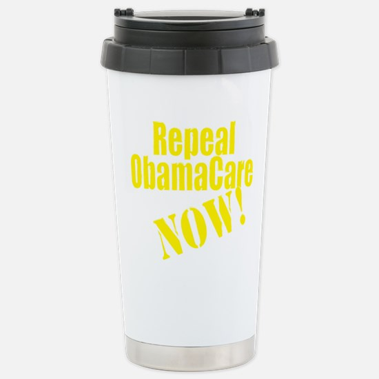 Repeal ObamaCare Now! Stainless Steel Travel Mug