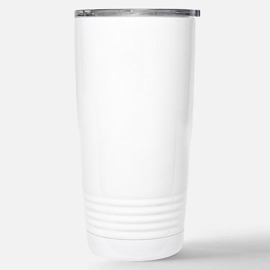 10x10 Center White Stainless Steel Travel Mug