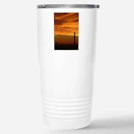 wash-mon_sunrise_v_post Stainless Steel Travel Mug