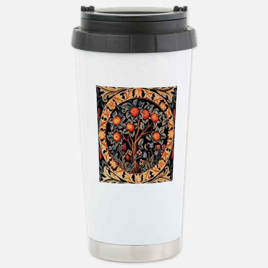Orange Tree of Life by  Stainless Steel Travel Mug