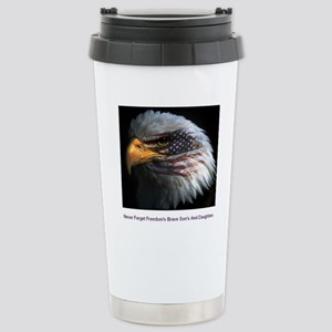 eagle with text Stainless Steel Travel Mug