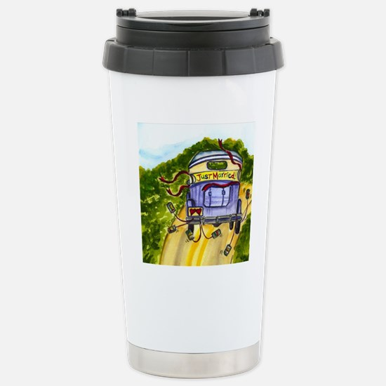 JUST MARRIED SQUARE Stainless Steel Travel Mug