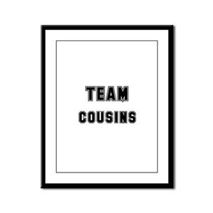 TEAM COUSINS Framed Panel Print