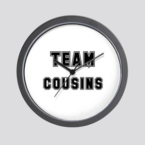 TEAM COUSINS Wall Clock