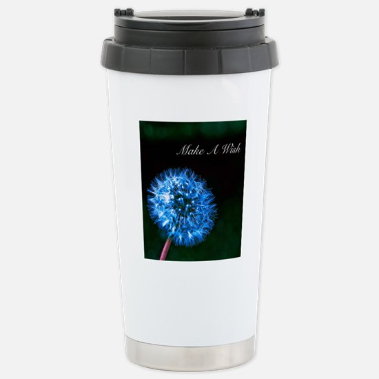 Biolumenescent Dandelio Stainless Steel Travel Mug