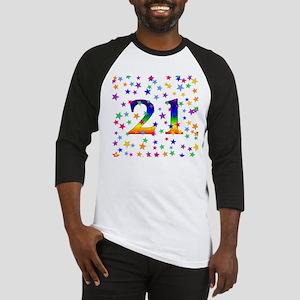 Rainbow Stars 21st Birthday Baseball Jersey
