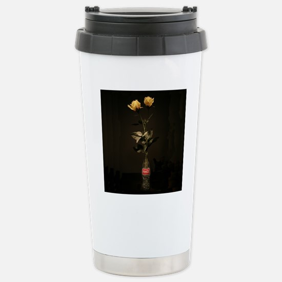 Yellow Roses Square 2 Stainless Steel Travel Mug