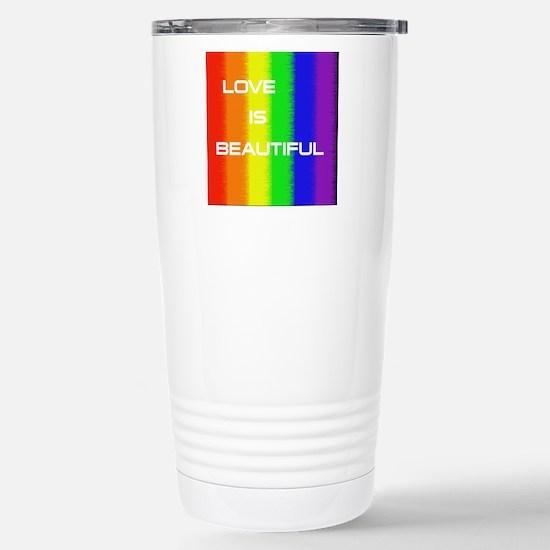 Love Is Beautiful Stainless Steel Travel Mug