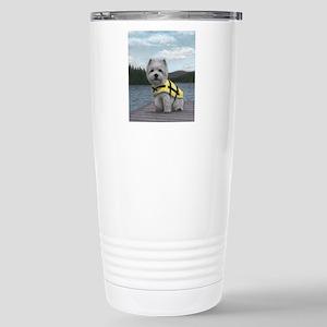 Truman at the Lake Stainless Steel Travel Mug