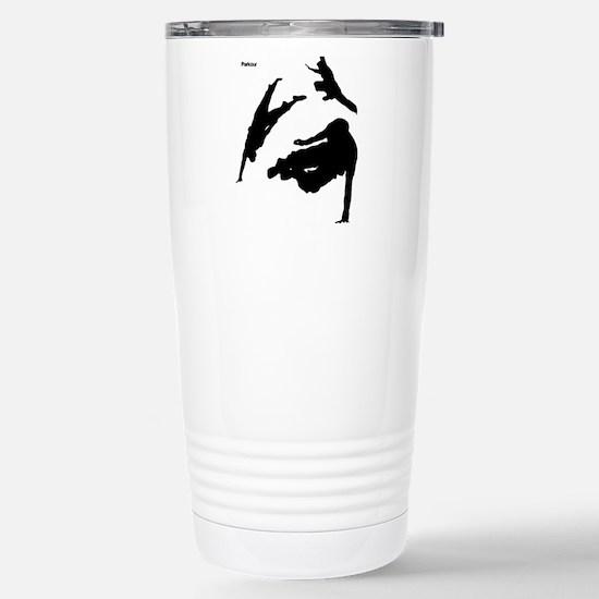 Parkour edge white Stainless Steel Travel Mug