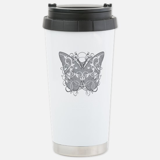Diabetes-Butterfly-blk Stainless Steel Travel Mug