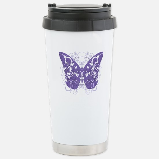 Epilepsy-Butterfly-blk Stainless Steel Travel Mug