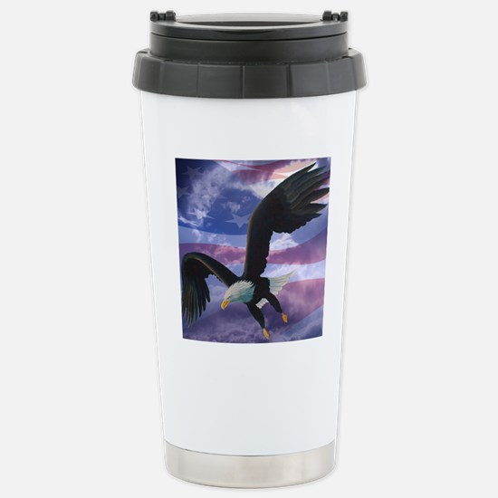 freedom eagle square 2 Stainless Steel Travel Mug