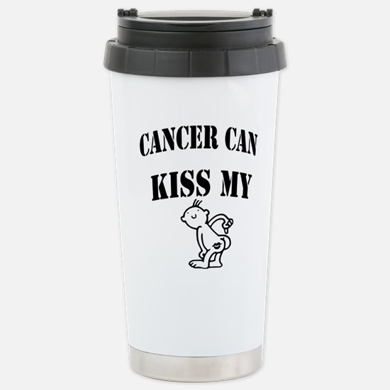 CancerCanOneSided2 Stainless Steel Travel Mug