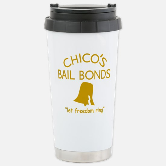 Chicos Bail Bonds Gold Stainless Steel Travel Mug