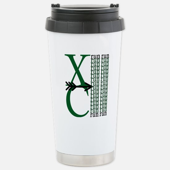 XC Run Green Black Stainless Steel Travel Mug