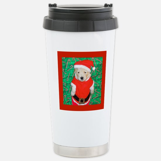 Santa Claus Funny Golde Stainless Steel Travel Mug