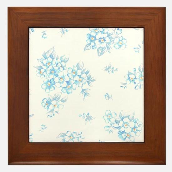 Bunch of Forget-Me. Framed Tile