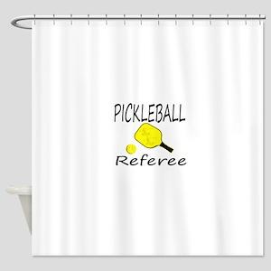 pickleball referee Shower Curtain