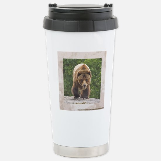 tile-grizzly-1 Stainless Steel Travel Mug