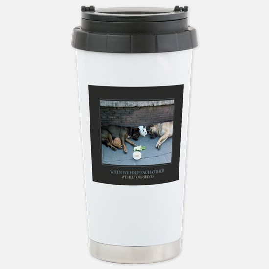 When We Help Each Other Stainless Steel Travel Mug