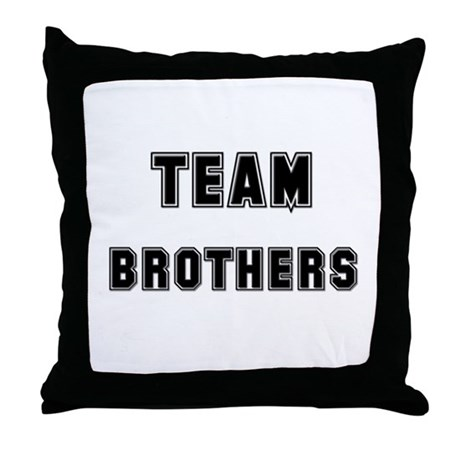 TEAM BROTHERS Throw Pillow