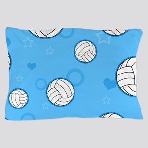 Cute Volleyball Pattern Blue Pillow Case