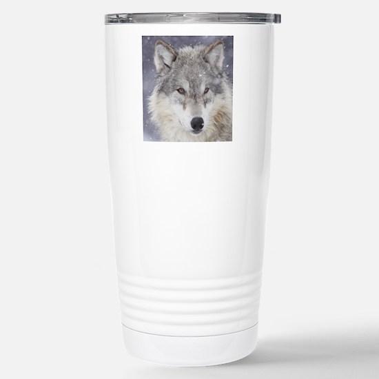 x10  Wolf Stainless Steel Travel Mug