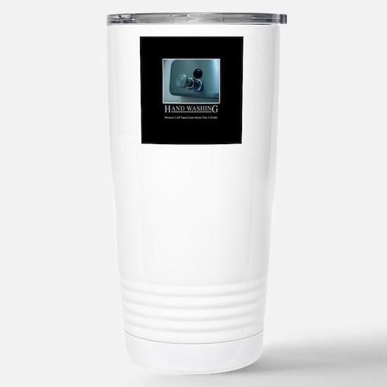 hand-washing-humor-infe Stainless Steel Travel Mug