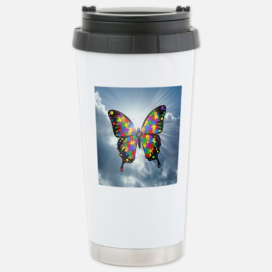 autismbutterfly - sky 6 Stainless Steel Travel Mug