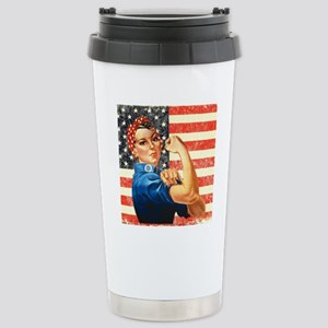 Rosie the Riveter Stainless Steel Travel Mug