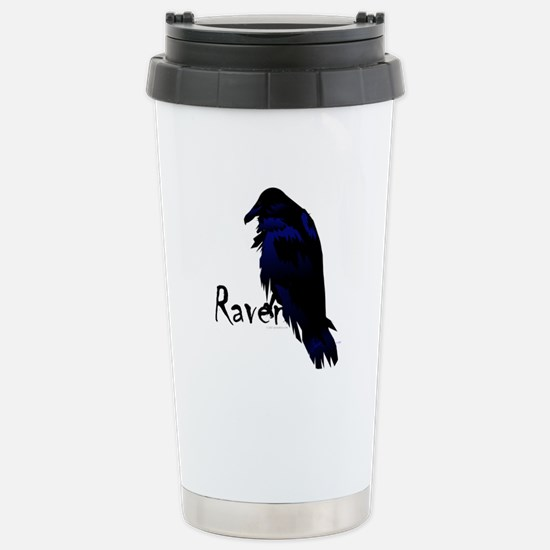 Raven on Raven Stainless Steel Travel Mug