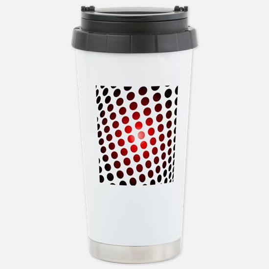 Red Dots In Motion Stainless Steel Travel Mug