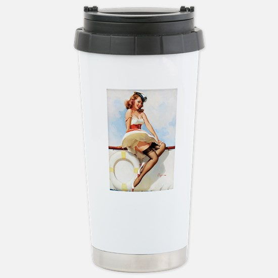anchors aweigh small po Stainless Steel Travel Mug