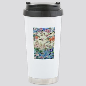 HUMMINGBIRD_STAINED_GLA Stainless Steel Travel Mug