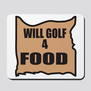 Will Golf 4 Food Mousepad